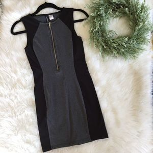 H&M zip panel dress